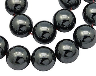 30pcs Hematite Loose Gemstone Beads NON-Magnetic 10mm-6170I