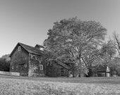Black and White Barn photo, landscape photograph, country farm barn, black white grey, fine photography print, 8x10 Photograph