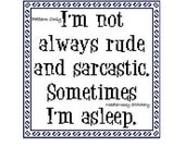 Funny Cross Stitch Pattern, Instant Download, PATTERN ONLY - Sarcastic And Rude Quote