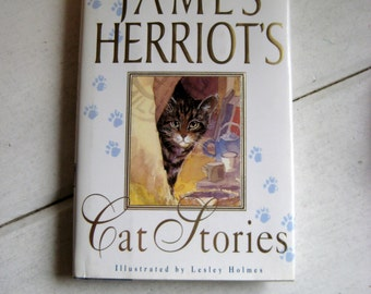 James Herriot's Cat Stories, illustrated by Lesley Holmes, 10 lovely and funny cat stories, decoupaged hardcover book