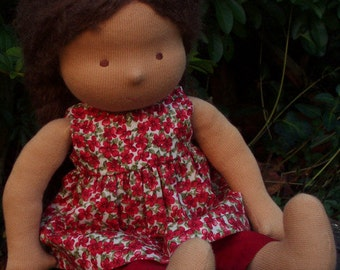 """Waldorf Doll 14"""" Tall, Brown hair ( made to order )"""