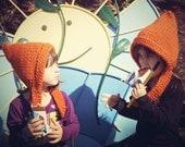 Kids Hats, Elf Hat,Unisex Winter Hat,Childrens Hat,Girls Hat,Pixie Hat,Gnome Hat, BoysHobbit Hat