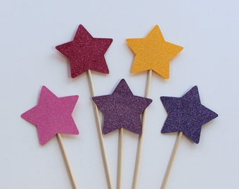 5 Piece Princess Magic Wand Photo Booth Props, Great for a Princess Party, Sleepovers, Birthdays
