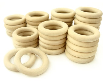 50pcs Wooden Teething Rings - WHOLESALE PRICE