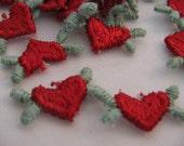 MINI EMBROIDERED HEARTS - Vintage