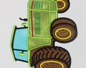 Tractor Green APPLIQUE Embroidery Design 3 sizes  INSTANT DOWNLOAD