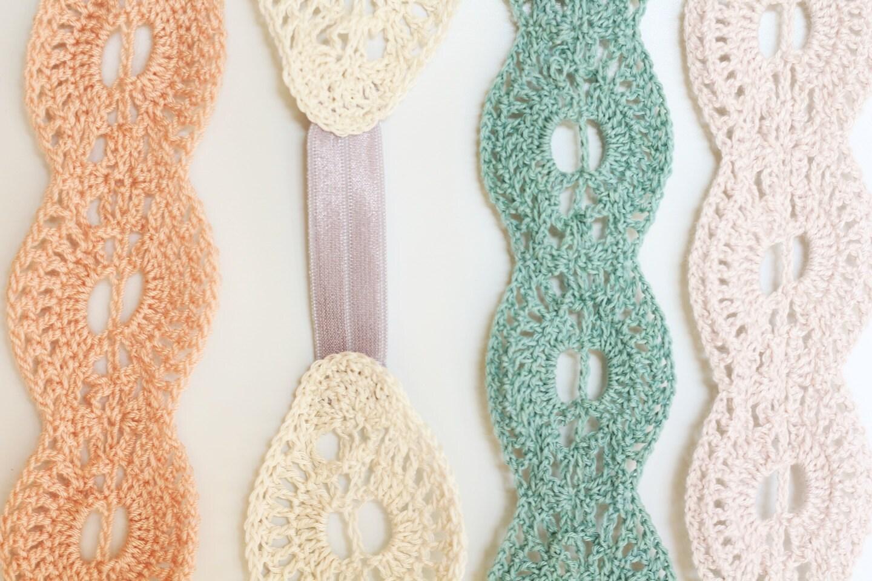 Crochet Pattern Lace Headband Instant Download