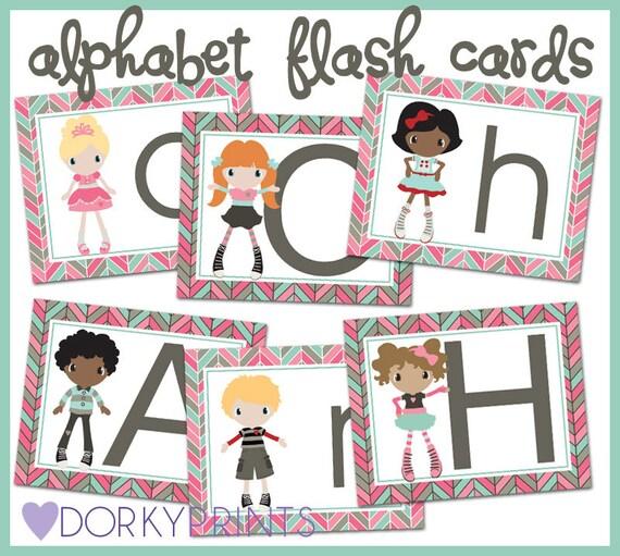 Kids Printable Alphabet Cards PDF -  kindergarten printables - preschool printables - ABCs