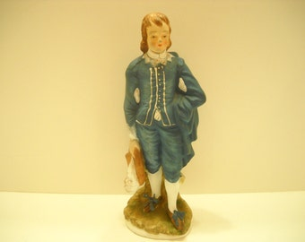 Vintage Lefton China Blue Boy Figurine, Limited Edition KW387 (6)