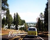 Travel Photography, typography, Volkswagen Bus, Road Trip, Dorm Decor, VW, Combi