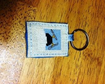 Penguin Keychain - Cross Stitch
