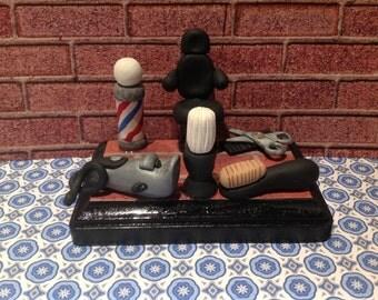 Barber shop business card holder,cu stom card holder,beauty salon,hair ...