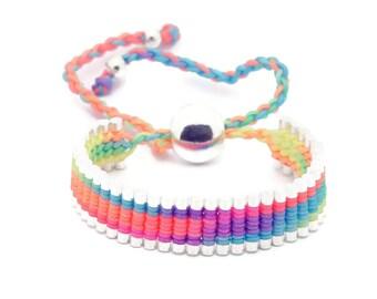 Link Friendship Bracelet - Rainbow Neon Color - (One Direction)