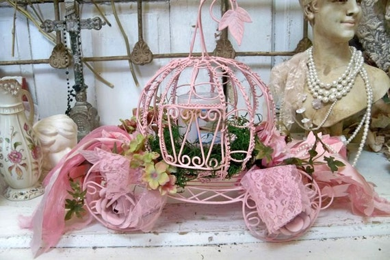 Cinderella S Carriage Pink Ornate Candle Holder Or