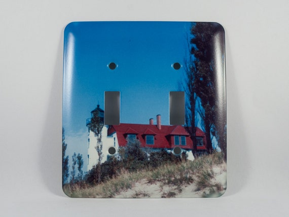 Sale light switch cover point betsie michigan lighthouse for Lighthouse switch plates