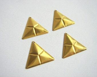 Raw Brass Triangles,Geometric Charms,Do it Yourself Geometric necklace