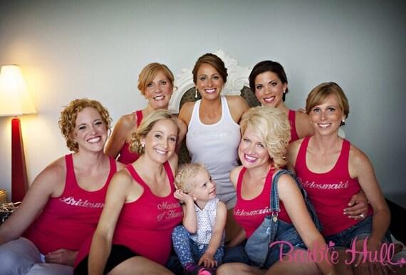 Bridesmaid Lace Tank Tops, Bridesmaid Shirts, Bride Tank, Bride Shirt, Bridesmaid Gifts, Bridesmaid Proposal, Bachelorette Party Shirts