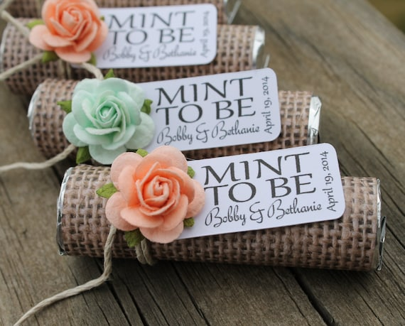 Mint wedding favors - Set of 24 mint rolls -