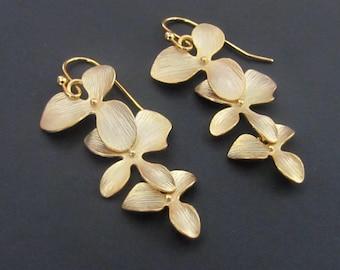 SALE 10% OFF: Orchid Earrings Drop Earrings Dangle Earrings Jewelry Wedding Jewelry Bridal Wedding Earrings Bridesmaid Gift Earrings