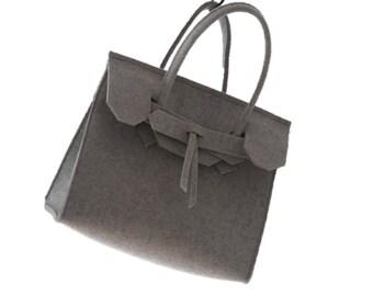 ArtAK MINI KUNST.  Designer Bag. Wool felt bag. Made to order. Monogram Personalized.