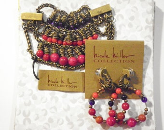 1 Nicole Miller Bracelet and Earring Set