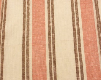 Vintage F. Schumacher Leah Linen Pink Shell Fabric sold by the yard