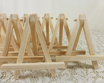 Wood easels natural wood tabletop miniature art easels display table