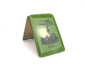 Vintage cigarette case Cigarette holder Tallinn Estonia Soviet cigarette case Metal cigarette case Gift for smoker Vintage card holder