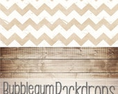 All in One Rustic Chevron & Brown Wood - Vinyl Photography  Backdrop Photo Prop