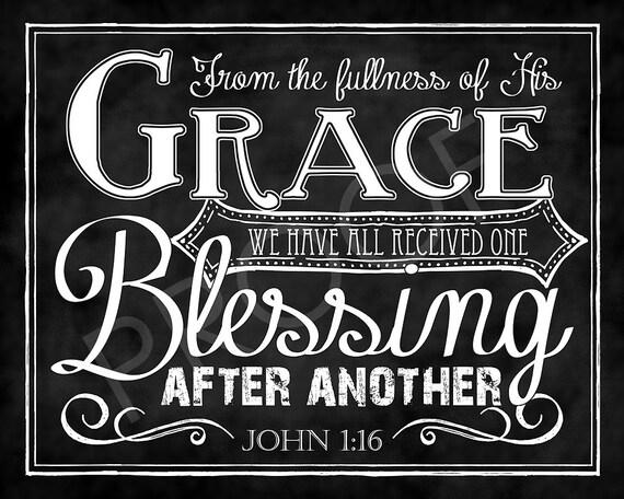 Scripture Chalkboard Art John 1 16