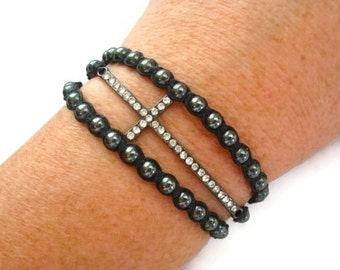 Sideways Cross Wrap Bracelet