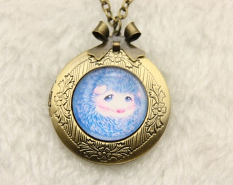 Necklace locket hedgehog