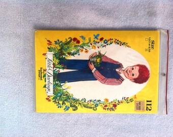 UNCUT Vintage Little Darlings Pattern 112... Child's Shirt & One Piece Jumpsuit... Sizes 4, 5, 6