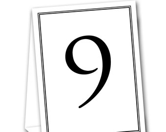 Formal Border 2 Table Tent Numbers