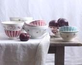 Vintage Cafe Bowls (Set of 2)