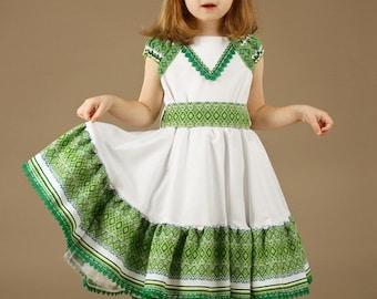 Ukrainian Children's Dress embroidery. Dress for girls, Ukrainian national Dress. Vyshyvanka. Ukrainian Girls' Clothing