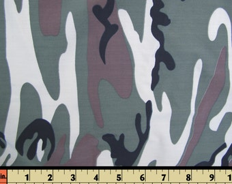 Polyester Lycra spandex camouflage swimwear material Fabric brown white gray-green black - 18 inches long X 55 wide