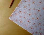Mormor Little Blomster in Coral Orange 37120-2 - Lotta Jansdotter for Windham - Half Yard - Modern Quilting Crafting Cotton Fabric