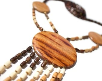 Wooden Pendant Mars. Handmade wooden jewelry. Eco friendly pedant