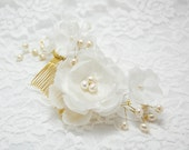 Wedding Hair Accessory, Wedding Hair Flower, Ivory flower comb, Wedding Hair Piece, Bridal Hair Accessories, Bridal hair comb, Flower comb