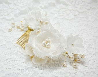 Wedding Hair Accessory, Wedding Hair Flower, Ivory flower comb, Wedding Hair Piece, Bridal Hair Accessories, Bridal hair comb, Flower comb