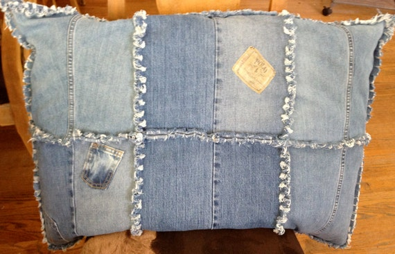 Dog Bed, Large Denim Dog bed, Recycled Denim Dog Bed,
