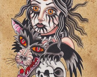Wolf Child - Ashley Riot print 2014
