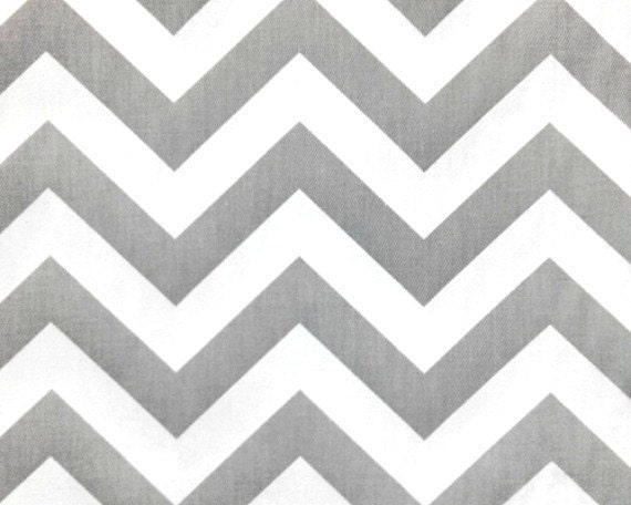 Reserved for Anne - Twill Chevron Gray White - Premier Prints - Zig Zag Storm Twill - Home Decor Weight