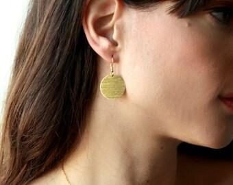 Gold earrings, 14k earrings, round earrings, gold filled earrings, round gold earrings, gold round earring