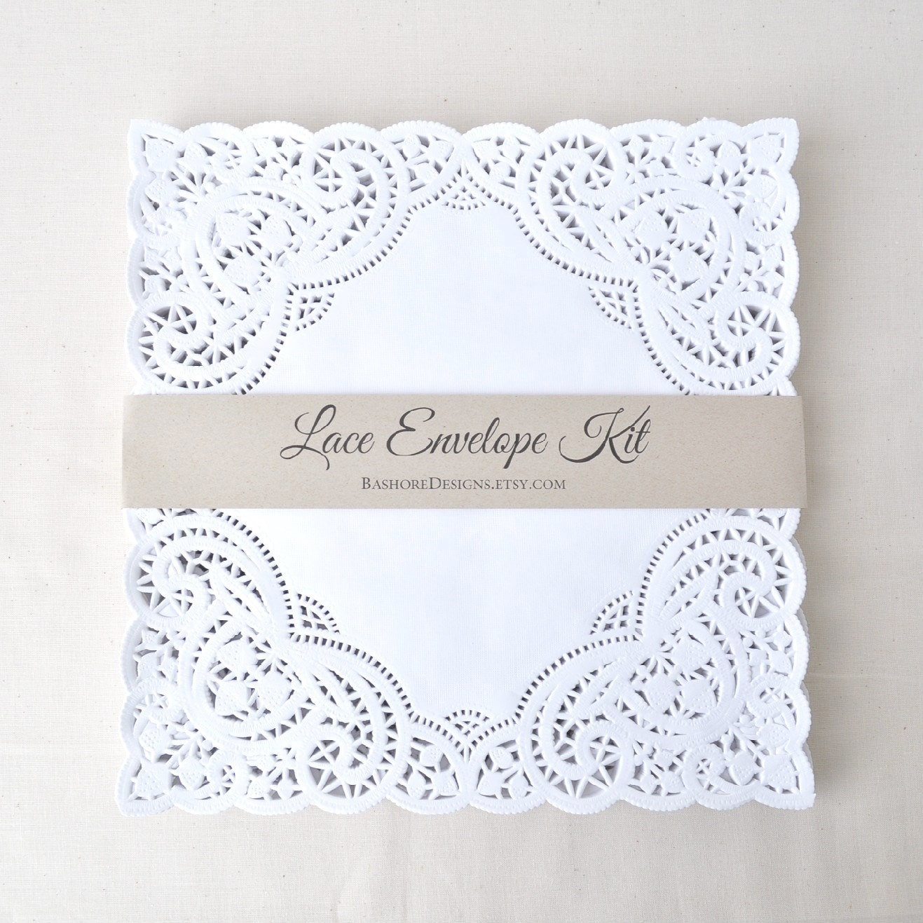 Diy lace envelope kit wedding invitation envelope liners paper lace