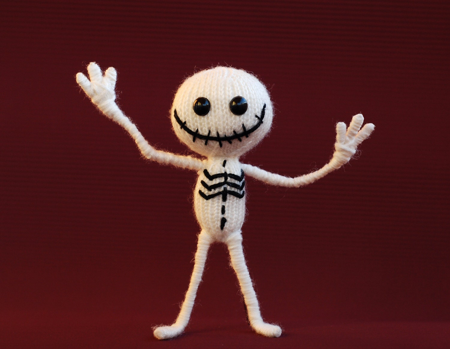 Amigurumi Wire Skeleton : Jolly skeleton. Knitting pattern knitted round. Wire by ...