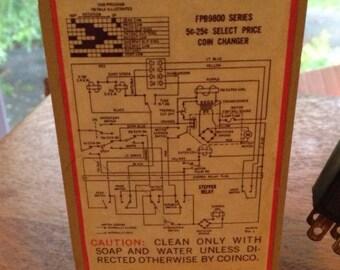 1960s Retro Coke Machine Coin Accepter Vintage Coke Machine Mechanical 1960s Coin Changer FPB9800 5-10 cents Coca-Cola Collectible