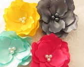 Satin Hair Flower  /  You choose the color