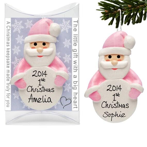 1st christmas santa decorations baby girl 39 s first by for Baby s first christmas decoration